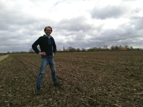 picture fabian on his land